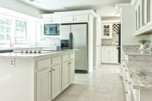 Marble countertops work